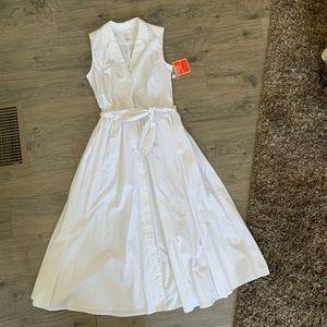 isaac mizrahi for target white cotton 50's dress S